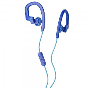 Skullcandy Chops Flex In Ear Headset Hanger With Mic Blue/Swirl S4CHY-K608