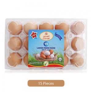 Co-op Large Fresh Brown Eggs - 15 Pieces