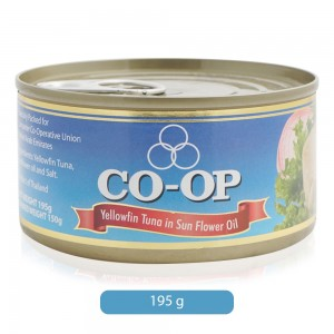 Co-Op-Yellowfin-Tuna-in-Sunflower-Oil-195-g_Hero