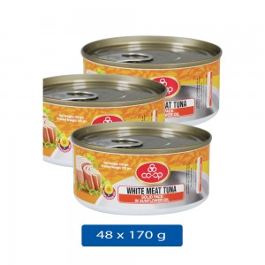 Co-Op White Meat Tuna Solied - 48 x 170gm