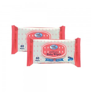 Cool & Cool Baby Wipes, 2x40's