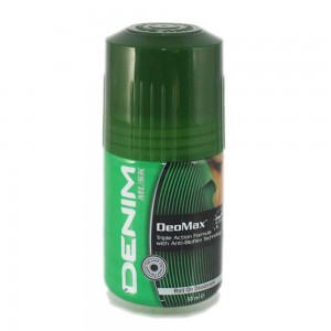 Denim Deodorant Roll On - Musk Green, 50 ml