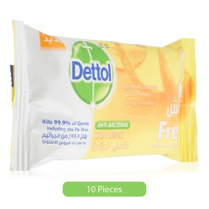 Dettol-Anti-Bacterial-Fresh-Skin-Wipes-10-Pieces_Hero