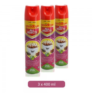 Dutch & Habro Goodbye All Insect Kills in One Spray - 3 x 400 ml