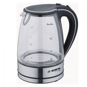 Elekta Platinum 1.7L Glass Kettle With Blue Led EP-KT-001G