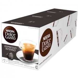 Nescafe Dolce gusto Espresso Intenso Coffee Capsules (16 Capsules, 16 Cups), 3 Pcs