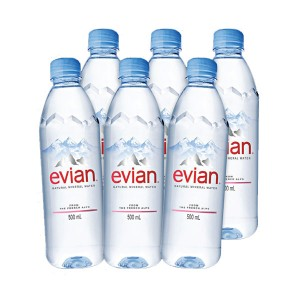 EVIAN 500ML PET x6-4+2 free