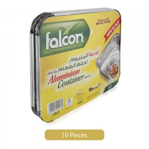 Falcon 131 Extra Thick Aluminium Food Storage Lid Containers - 10 Pieces