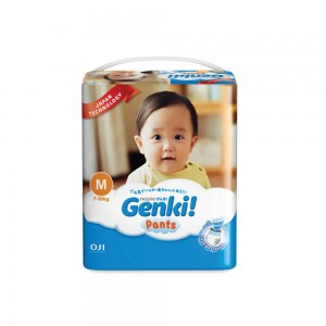 Genki Nepia Pants, M, 7 - 10 kg, 42 Pieces