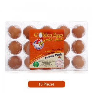 Golden Eggs Brown Family Pack Eggs - 15 Pieces