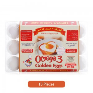 Golden Eggs Omega 3 White Eggs - 15 Pieces