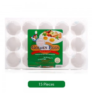 Golden Eggs Rich in Lutein Eggs - 15 Pieces