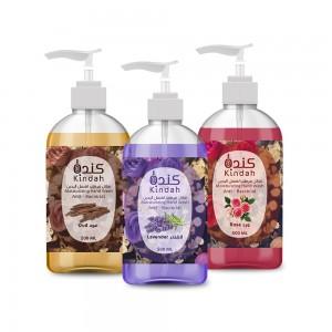 Kindah Moisturizing Hand Wash Had wash - Levander - Rose - Oud  500 ML offer pack 1x3