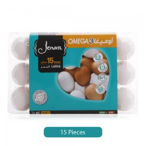 Jenan Omega 3 Eggs - Large, 15 Pieces