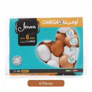 Jenan Omega 3 Eggs - Large, 6 Pieces