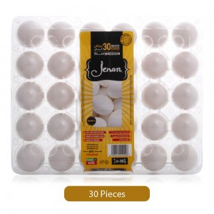 Jenan White Eggs Tray - Medium, 30 Pieces