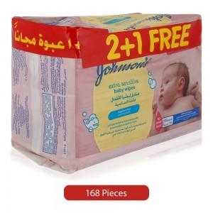Johnson's-Free-Extra-Sensitive-Baby-Wipes-168-Pieces_Hero