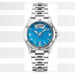 Jean Paul Gaultier Swiss Made  Men's Watch-JPG0101007 Silver& Blue