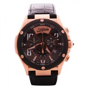 Jean Paul Gaultier Swiss Made   Men's Watch-JPG0104005 Rose Gold & Brown