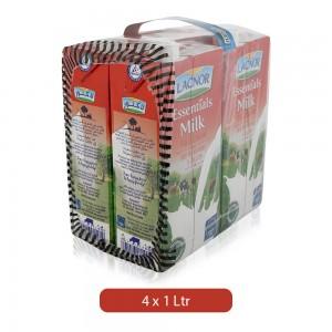 Lacnor Essentials Full Cream Milk - 4 x 1 Ltr