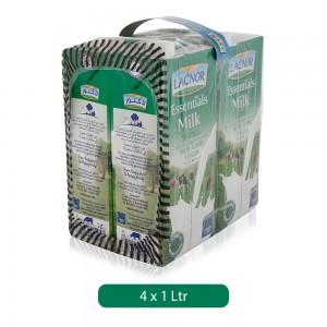 Lacnor Essentials Skimmed Milk - 4 x 1 Ltr
