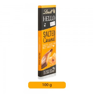 Lindt Hello Salted Caramel Chocolate Bar - 100 g