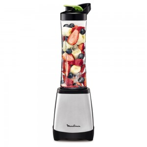 Moulinex , Lm1A0D27  Smoothie To Go Personal Blender ,  300W , Silver