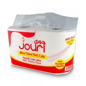 Jouri Maxi Towel Roll 2 ply 1400+40 sheet 1x2 Roll