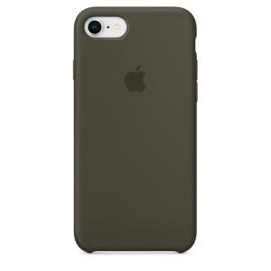 Apple iPhone 8 / 7 Silicone Case - Dark Olive, MR3N2ZM/A