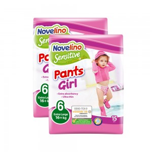 Novelino Sensitive Pants Girl N6 16+Kg, 2x15's