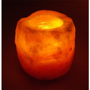 HIMALAYAN SALT - Natural Tea Light Holder P38159