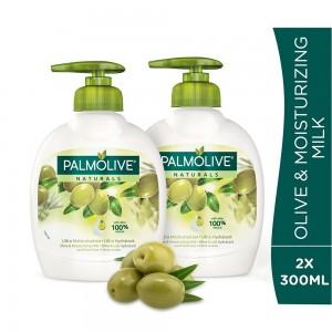 Palmolive Liquid Hand Soap Pump Olive & Milk Liquid Hand Wash - 2 x 300ml