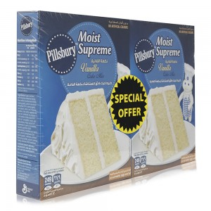 Pillsbury Moist Supreme Vanilla Cake Mix - 2 x 485 g