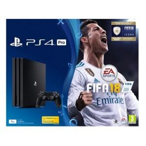 Sony PS4 Pro 1TB Console Jet Black + FIFA 18 S/E