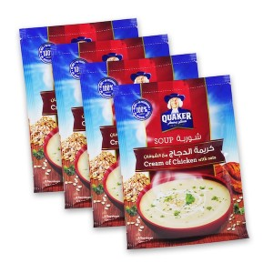 Quaker Soup Cream Of Chicken 64g 4Pk