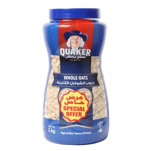 Quaker Whole Oats Jar, 1Kg