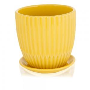 Saara-Ceramic-Teacup-with-Yellow-Saucer-Plant-Pot-14.8-cm_Hero