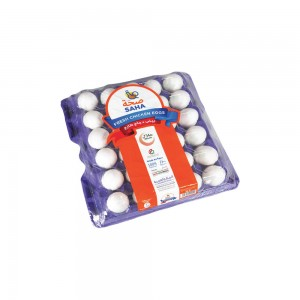 Saha White Small Eggs - 30's
