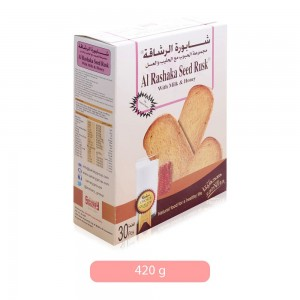 Sahary Al Rashaka Seed Rusks with Milk and Honey - 420 g