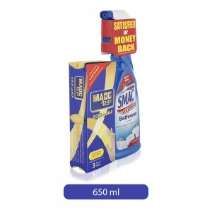 Smac Express Bathroom Spray with Maog Gold Sponge Scourer Set - 650 ml