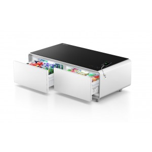Yamada Smart Mini Bar Table Fridge With Music System & USB White, TB-130EYD01