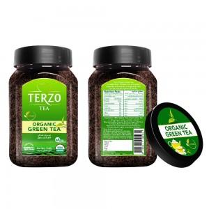 Terzo Organic Green Tea - 110  grams Jar