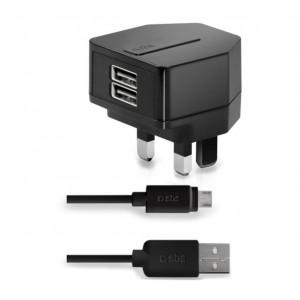 SBS TTTRKITLH2AUK UK Charger 2 USB Output+ Lightning Cable