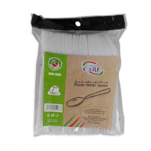 Euro Care Disposable Spoons, 50 Pieces