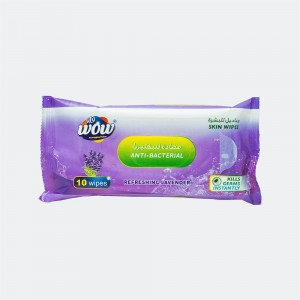 Wow Refreshing Lavender Antibacterial Skin Wipes - 10 Wipes
