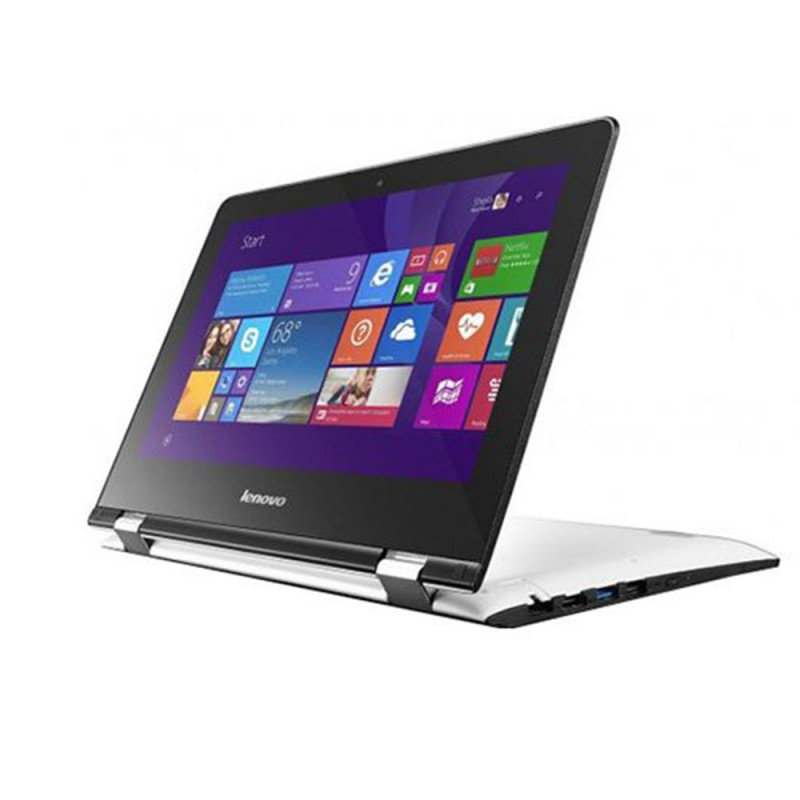 "Lenovo Yoga 300 2 in 1 Laptop Celeron,4GB,32GB,11.6"",White, 80M100W-WAX"
