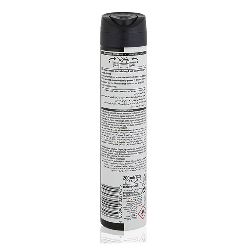 Nivea Men Invisible Black White Deodorant Spray 200 Ml