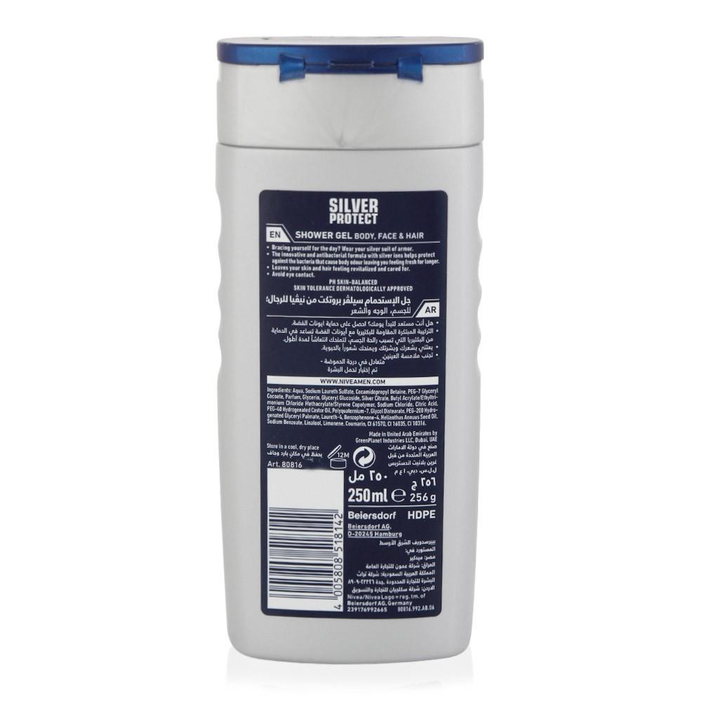 Nivea Men Silver Protect Antibacterial Shower Gel - 250 ml