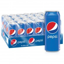 Pepsi, Carbonated Soft Drink, Cans, 355 ml x 24