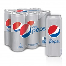 Diet Pepsi, Carbonated Soft Drink, Cans, 355 ml x 6